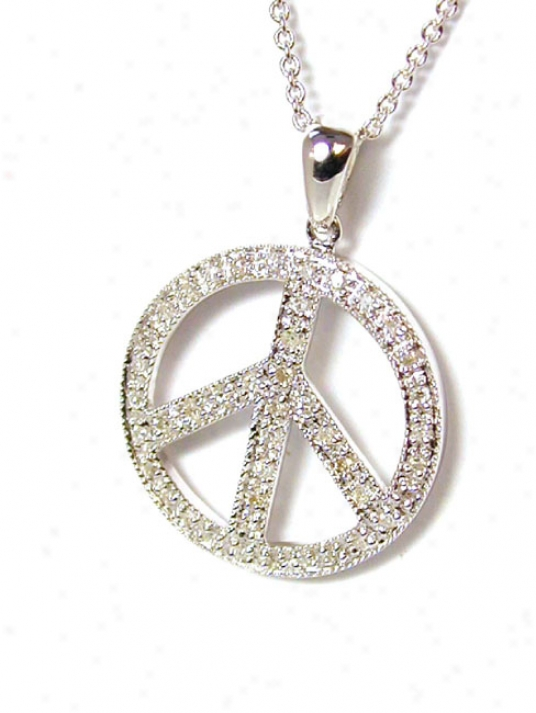 Graceful Rhombus Peace Sign Pendant