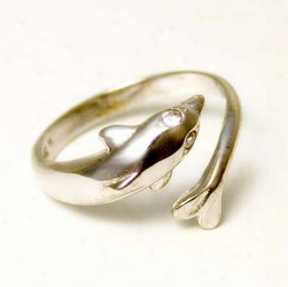 Elegant Dolphin Cubic Zirconia Cz Toe Ring
