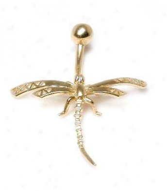Elegant Dragonfly Belly Ring