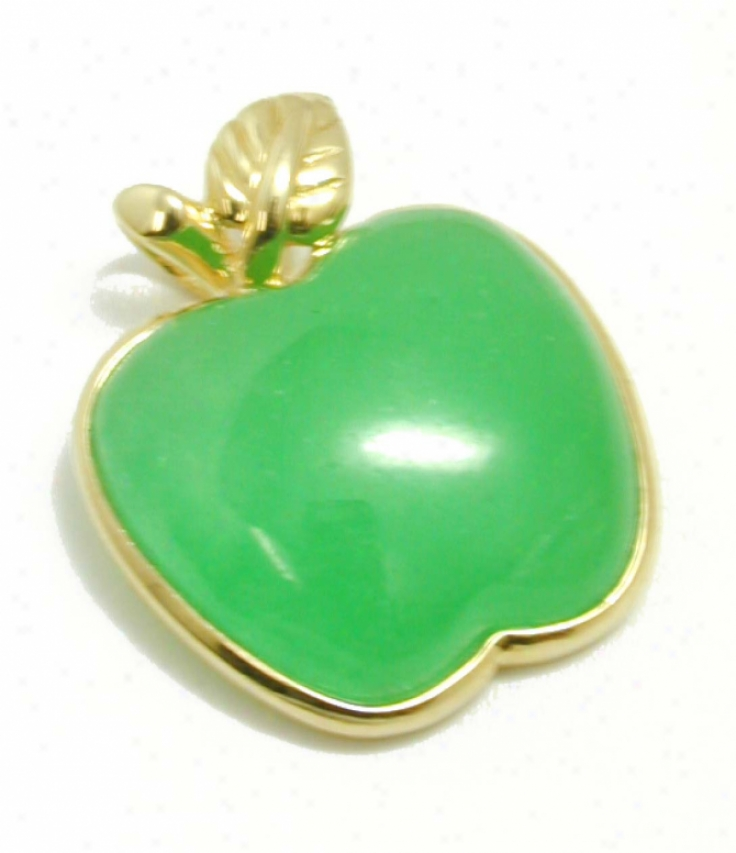 Elegan Green Jade Apple Pendant