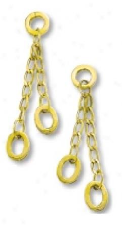 Elegant Oval Link Rolo Drop Earrings