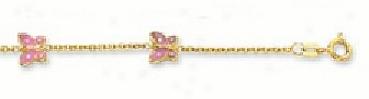 Enamel Butterfly Ankle Bracelet