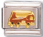 Fire Truck Language of Italy Charm Link