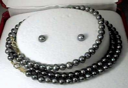 Fw Black Jewel Bracelet,_Necklace & Earring Set