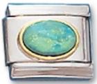 Bud Blue Opal Italian Charm Link