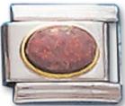 Gem Red Opal Italian Charm Link