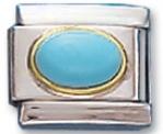 Gem Turquoise Italian Charm Link