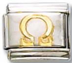 Greek Omega Italian Charm Link