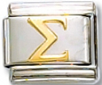 Greek Sigma Italian Charm Link