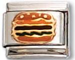 Hamburger Italian Charm Link