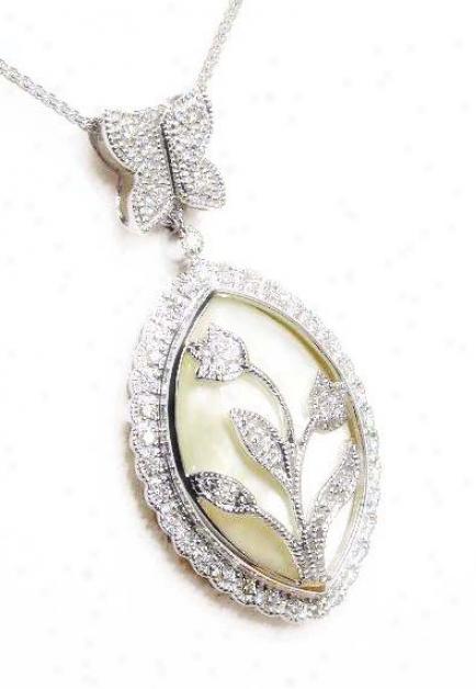 Heirloom Mother Of Pearl & Diamond Pendant