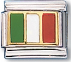 Italian Flag Language of Italy Charm Link
