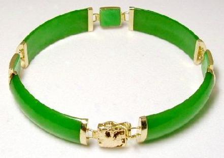 Jade Portion Dragon Station Bracelet