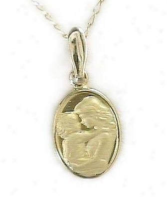 Mothers Love Gold Cameo Pendant
