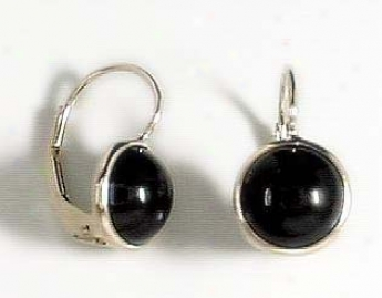 Onyx Eurowire Earrings