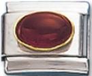 Oval 01 - January Synthetic Garnet Charm