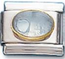 Oval 04 - April Synthetic Diamond Charm