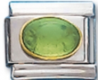 Oval 08 - August Synthetic Peridot Charm