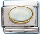 Oval 10 - October Synthetic Opal Attraction