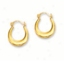 Oval Petite Hoop Earrings