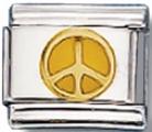 Peace Sign (orange) Italian Charm Link