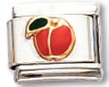 Peach Italian Charm Link