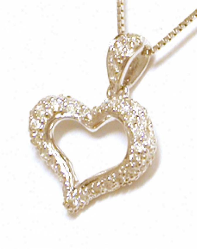 Petite Recent Diamond Heart Pendant