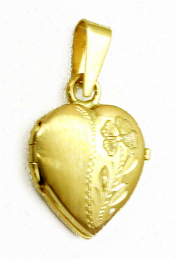 Petite Satin/polish Flower Initial Disposition Locket Pendant