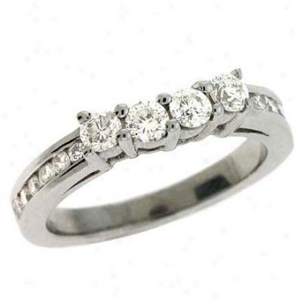 Platinum 0.83 Ct Brilliant Band Ring