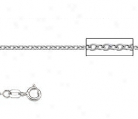 Platinum 18 Inch X 1.5 Mm Cable Chain Necklace