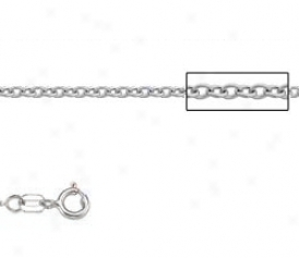 Platinum 18 Inch X 1.6 Mm Cable Chain Necklace