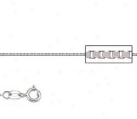 Platinum 18 Inch X .5 Mm Box Chain Necklace