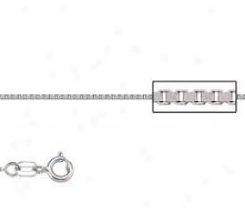 Platinum 18 Inch X .6 Mm Box Chain Necklace