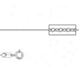 Platonum 18 Inch X .8 Mm Cable Chain Necklace