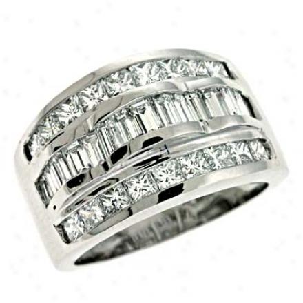 Platinum Trendy 2.2 Ct Diamond Ring