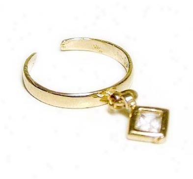 Priness Cubic Zirconia Cz Dangling Toe Ring