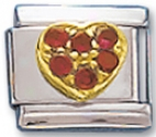 Red Heart Italian Charm Link