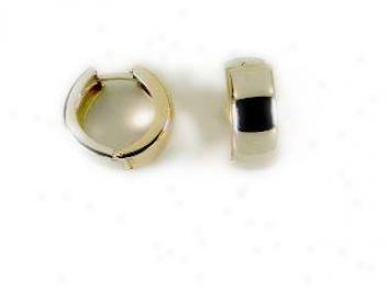Reversable Two-tone Hinged Earrings
