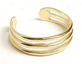 Ribbed Adjustable Toe Ring