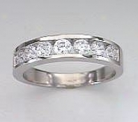 Round Cubic Zirconia Cz Wedding Band