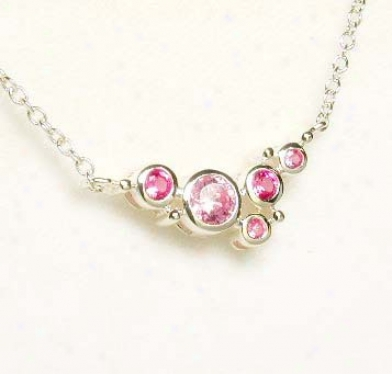 Shades Of Pink Cubic Zirconiq Cz Bubbles Necklace