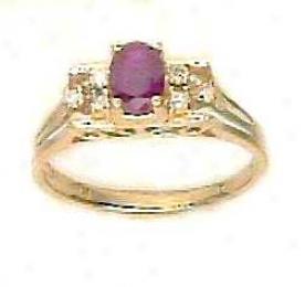 Simple Ruby & Rhombus Ring
