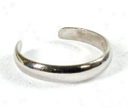 Simple White Toe Ring