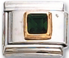 Square 05 - May Synthetic Emerald Charm