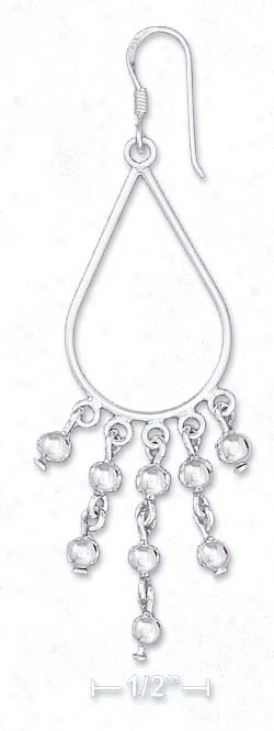 Ss 1.25 Inch Liberal Wire Teardrops Earrings In the opinion of Ball Dangles