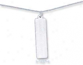 Ss 16 In. Curb Chain 11 X 40mm Courage Wisdom Strength Charm