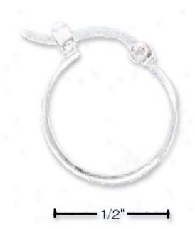 Ss 16mm 4mm Half Stock French Lock Hoop Earrings