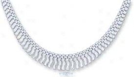 Ss 7mm Fancy Stampato Necklace Graduated Fringe Tassels 17i