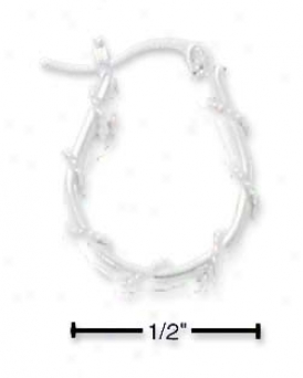 Ss Double Wire Cable Wrapped U Hoop Earrings French Lock