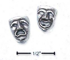 Ss One Side Comedy One Side Tragedy Post Earrings